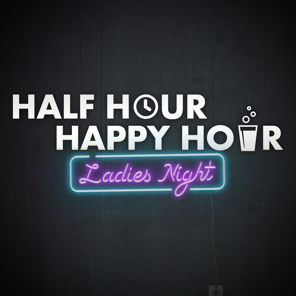 Half Hour Happy Hour Podcast Cover - Square