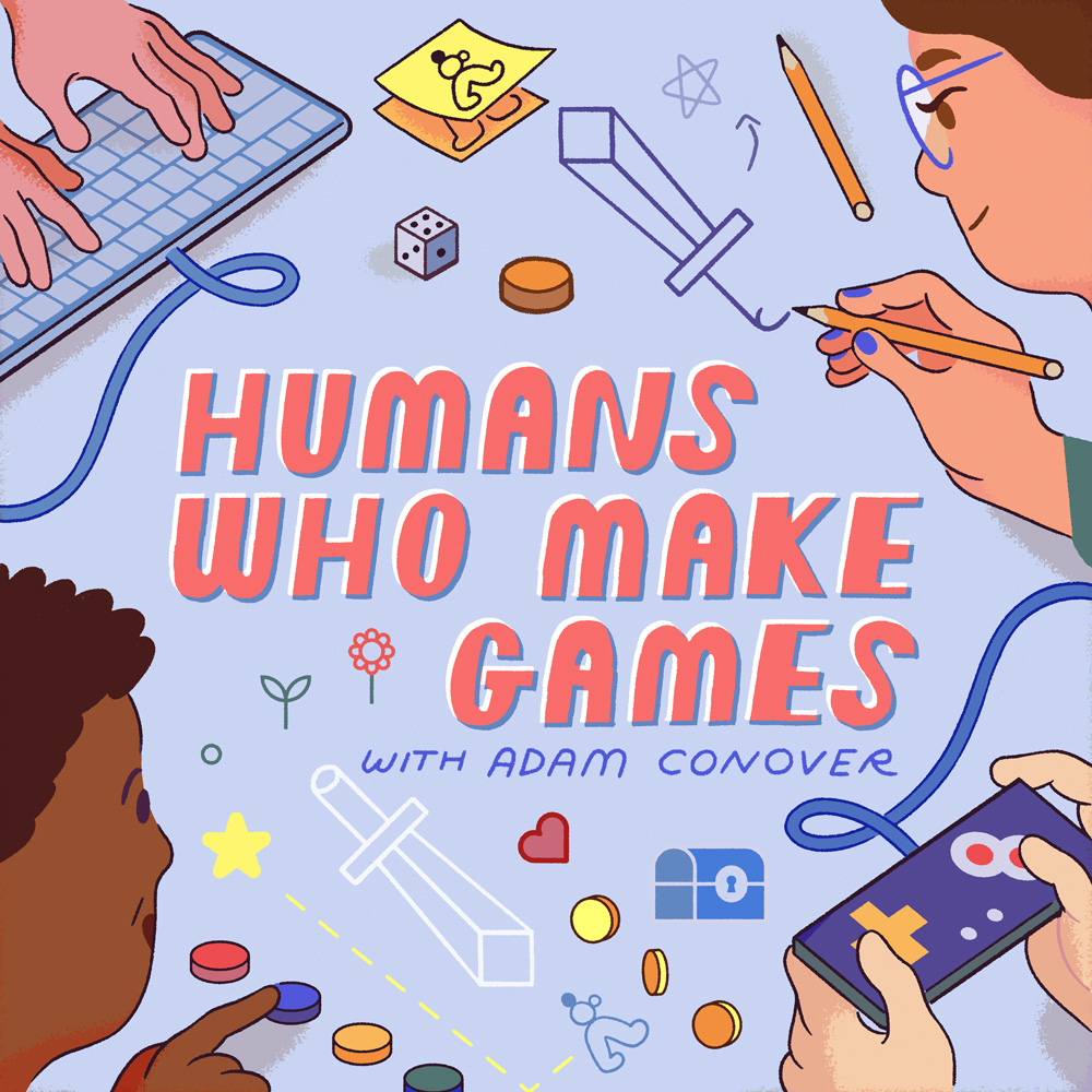 Humans Who Make Games Podcast Cover - Square