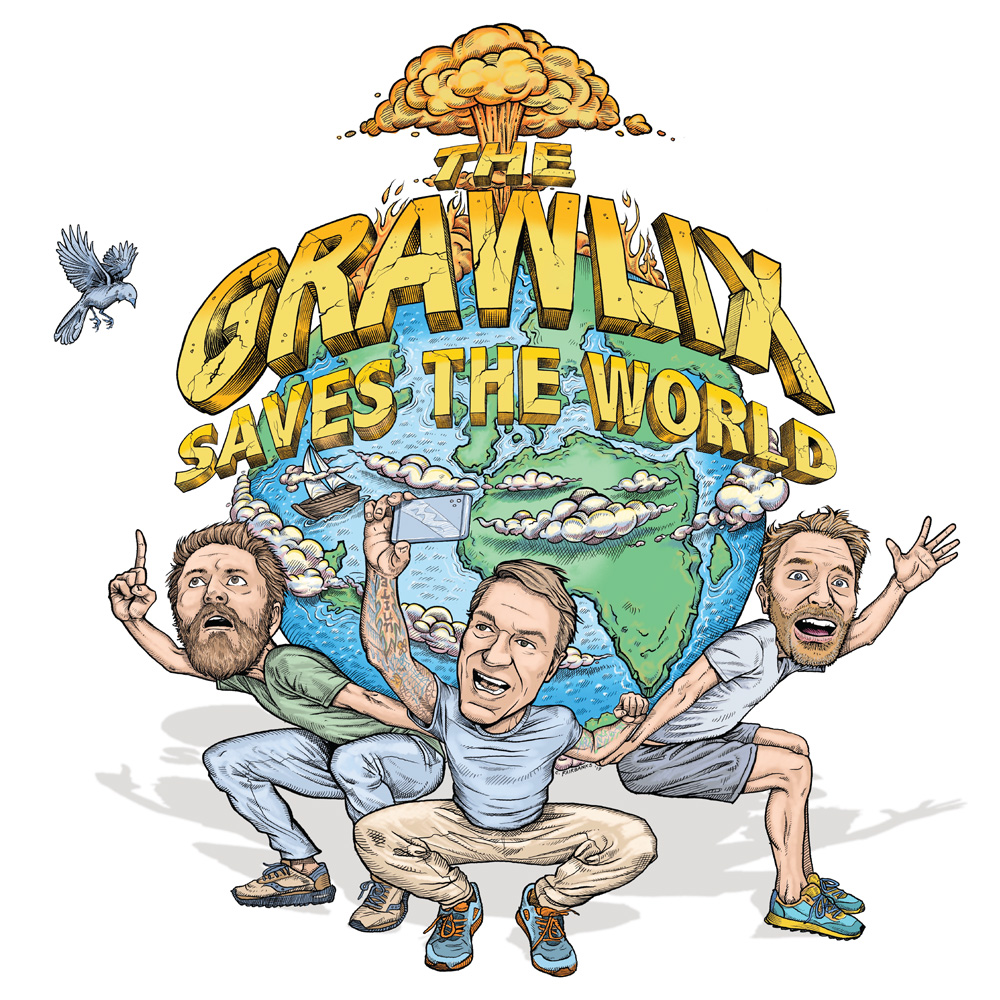 The Grawlix Saves the World Podcast Cover - Square